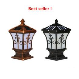 LED Güneş Mesaj Işık Modern Basit Bahçe Işık IP65 Açık Villa Garden Duvar Kapı Pillar Lambası Duvar Işık Çevre koruma cheap lamp post garden nereden lamba sonrası bahçe tedarikçiler
