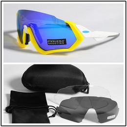 Polarisierte radfahren brille outdoor sport fahrrad brille fahrrad sonnenbrille radfahren sonnenbrille eyewear 3 lens flight jacket von Fabrikanten