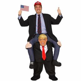 kostüm donald Rabatt Neuheit Kostüme Erwachsene Hosen Dress Up Fahrt Auf Donald Trump Schulter Maskottchen Kostüme Tragen Sie Spaß Cosplay Kleidung DK7091CP