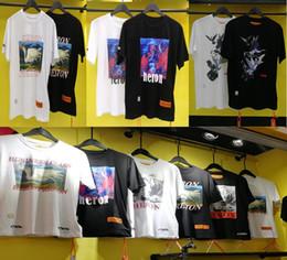 Camicia nuovo stile estivo Heron Preston Doves Stampato Donna Uomo manica lunga T tees Hiphop Streetwear uomini del bicchierino del cotone della camicia SleeveT 23 stile supplier new t shirt styles da nuovi stili della maglietta fornitori