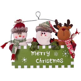 DIY Christmas Snowman Outdoor Decoration Garage Gate Door Elk Bow Hat M T FL