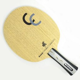 2019 raquetes de tênis de mesa dupla felicidade A lâmina do tênis de mesa da fibra do carbono de SANWEI CC / a raquete de tênis de mesa / bastão enviam o caso da tampa