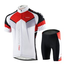 Uomo traspirante Quick Dry comoda maglia a maniche corte + Pantaloncini imbottiti Abbigliamento da ciclismo Set Abbigliamento sportivo da equitazione Y2800W-L da