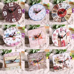 квадратные часы Скидка Vintage Wooden Round Square Wall Clock Large Shabby Chic Rustic Kitchen Home Antique Living Room Decorations