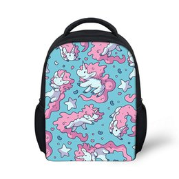 kids color books Coupons - 3D New Cute Cartoon Unicorn Horse Printing Color Backpack Causal Bags For Youth Kid School Book Bag Boys Girl Children Backpacks