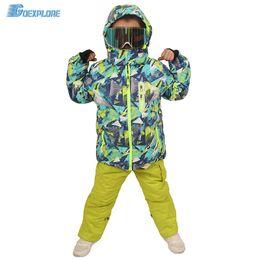 Goexplore Ski Suit Enfants 110-160 Bébé Fille enfants Hiver Imperméable Coupe-Vent Chaud Snowboard Set Neige Veste Et Pantalon Pour Les Garçons ? partir de fabricateur