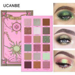 magische farben lidschatten Rabatt UCANBE Magic Spell Lidschatten-Palette Vibrant grüne Augen Make-up 18 Farben Glitter Schimmer Matt Metallic Lidschatten Nude Kosmetik