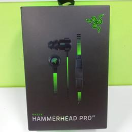 2019 auriculares de afeitar Top Razer Hammerhead Pro V2 Auriculares Auriculares intrauditivos con micrófono Auriculares para juegos Aislamiento de ruido Estéreo Bajo auriculares de afeitar baratos