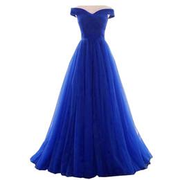 A Line Evening Dress 2018 Long Royal Blue Dress abiti da sera plus size abiti da sera robe de soiree abiti economici da vestiti da sera lunghi del collo del cowl fornitori