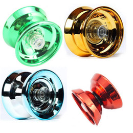Bambini yoyo online-Hot Metal Yoyo Ball Bambini Giocattoli per bambini Metallo Yoyo Ball Bearing String Trick Yo-Yo Ball Divertente Yoyo Giocattoli educativi professionali