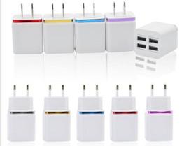 android сотовый телефон 5s Скидка 4 порта USB Сотовый телефон Зарядные устройства USB Универсальный ЕС США Plug 5V 2.1A Адаптер переменного тока 5 цветов для мобильного смартфона 4S 5S Android S3 S4 S5