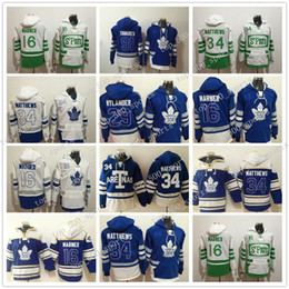 2020 xl 16 camisetas sudaderas Toronto Maple Leafs sudaderas con capucha 91 JohnTavares 16 Mitch Marner 29 William Nylander 34 AustonMatthews Hockey Hoodies xl 16 camisetas sudaderas baratos