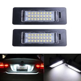 2019 montaje de bloqueo 2 pcs 24 LED luces de matrícula para BMW E90 M3 E92 E70 E39 F30 E60 E61 E93