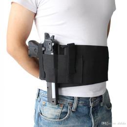 revistas de pistola Desconto Tactical Ajustável Belly Band Pistola de Pistola de Cintura Holster Oculta Carry Pistol Gun Bolsa Coldre Pistola de Cintura Elástica com 2 Mag Bolsas Bag