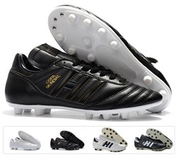 Hot Classics Mens Copa Mundial Leather FG Soccer Shoes Discount Cleats  World Cup Football Boots Black White botines futbol Size 39-45 discount  copa mundial ... 1a27147989d