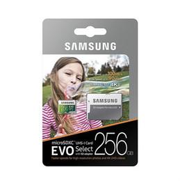 Samsung 128gb on-line-16GB / 32GB / 64GB / 128GB / 256GB Original Samsung EVO Select Plus cartão micro sd / smartphones cartão de TF / HD câmera Cartão de memória de 100MB / S