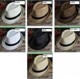 MOQ 200 unids Moda Para Mujer Para Hombre Unisex Fedora Trilby Gangster Cap  Summer Beach Sun Straw Sombrero de Panamá Parejas Amantes sombrero 90b98ffb9a9
