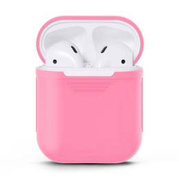 Multi kopfhörer online-Multi Color Airpod Case Airpod-Schutzhülle Bluetooth Drahtlose Kopfhörer Silikonhülle Anti-Drop-Handy-Kopfhörer