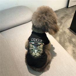 Primavera moda cão on-line-Primavera verão Roupas Para O Cão de Algodão T-Shirts Respirável Teddy Schnauzer Bichon Frise Corgi Moda Gato Roupas Para Animais de Estimação Vestuário
