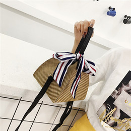 58164e09d55 Lucky2019 Bag Hand Silk Scarf Straw Plaited Article Traditional Chinese Rice-pudding  Leisure Time Woman Single Shoulder Package