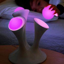 Mudança de Cor do DIODO EMISSOR de Luz Da Noite Cogumelos Lâmpada Decorativa de Mesa de Luz Para O Quarto Dos Miúdos Sala de lâmpada de mesa de cabeceira Criativo Fluorescente de Fornecedores de iluminação decorativa fluorescente