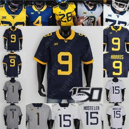 Principali s online-West Virginia del calcio Jersey Austin Kendall Leddie Brown Sam James Dante Stills Stills Dario Simmons Pat White Tavon Austin Major Harris