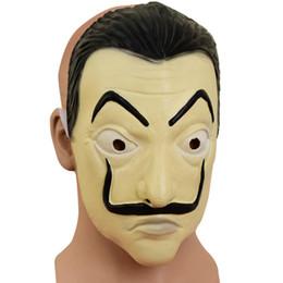 La Casa De Papel máscara Dali Halloween Cosplay Festival Designer Homme Roupas Das Mulheres Acessórios de Estilo de Moda Traje de
