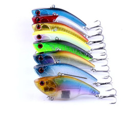 Argentina 8PCS 7.5cm / 18.6g 2.95in / 0.65oz VIB 8Color de vibración Señuelos de pesca Cebos duros Señuelos de pesca artificial Señuelos biónicos ¡Alta calidad! Suministro