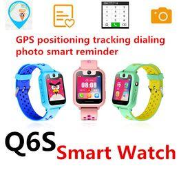 2019 kamera q6 Q6 Smart Watch Childr Smartphone Uhrenarmband DialAnswer Anruf wasserdichte GPS-Kamera Micro Chat SOS-Notfallalarm Fernbedienung Uhren günstig kamera q6