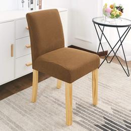 Sedie ufficio sedie online-Chair Elastic Stretch Polar Fleece Fabric Low Back Cover coprisedie sala da pranzo dello spandex per Cucina / Ufficio