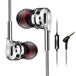 Écouteurs en métal en Ligne-Mode nouvelle universelle stéréo basse écouteurs filaires, écouteurs en métal pour casque Iphonex / xs / xr / xsmax / samsung