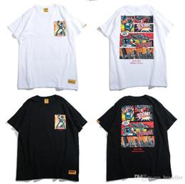 новый мужской стиль рубашки Скидка 19SS New Brand Модельер Футболка в стиле хип-хоп в стиле Harajuku Комикс с принтом Свободные мужские хлопчатобумажные повседневные футболки с короткими рукавами