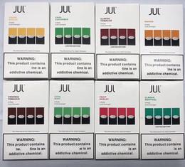 Cartouche rechargeable en Ligne-2019 Mangue Concombre JUUL Pods 8 saveurs pour juul stylo mangue menthe fruit Portable stylo vape 4pcs pack cartouche rechargeable pod DHL