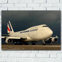 2019 flugzeug gemälde Wall Art Poster und Drucke Boeing 747 Airliner Commercial Airplanes Bild Leinwandgemälde für Wohnzimmer-Dekor günstig flugzeug gemälde