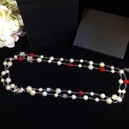 collier de créateur de luxe long collier de perles bijoux mode chandail de parti des femmes de la chaîne chaîne d'argent colliers ? partir de fabricateur