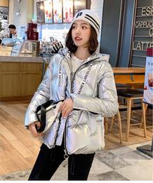 2019 peles coreanas Marca inverno mulheres raposa grande gola de pele jaqueta coréia para baixo algodão solto grosso curto outerwear parkas feminino casacos com capuz peles coreanas barato
