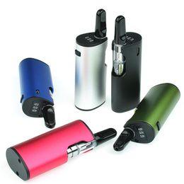 E cigarros slims on-line-650 mAh pré-aquecimento vv bateria de óleo de cera vape caneta starter kit caixa mini mod NERO vaporizador fino cartucho de bobina de cerâmica e cigarro 0.5 ml