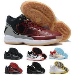 Adidas D Rose 9 Black Gold Schuhe zum Verkauf Top Qualität neue Derrick Rose Basketballschuhe Speicher freies Verschiffen US7 US12