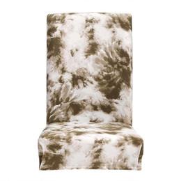 modèle de couverture de siège de chaise Promotion Housse de chaise extensible à motif graffiti pour siège amovible, gris vert