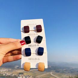 agulha de gotejamento Desconto 2019 Declaração S925 Silver Needle Dripping Oil Geometric esmalte cor sólida pequeno brincos para mulheres Vintage Brinco