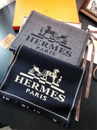 Lenço da marca de alta qualidade lenços dos homens de luxo designer outono e inverno 100% lenço de lã tricotada cachecol de alta qualidade 180 * 30 cm sem caixa de