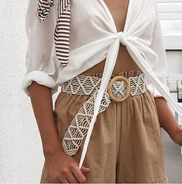 Бифштексы женщин широкий пояс вязания тканые женского пояса Модные марочные случайные дамы летнее платье ремень от Поставщики чёрные юбки