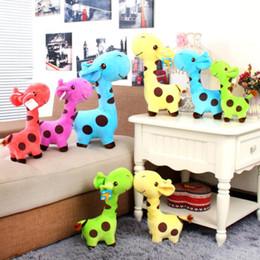 10pc 18cm cervi cute giocattoli di peluche farcito molle della peluche della giraffa Animal Toy Caro Baby Doll bambini Bambina di Natale regali di compleanno da peluche blu scuro fornitori