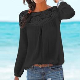 2019 blusas coreanas de algodón Camiseta de mujer bohemia para mujer de encaje para mujer coreano blusa de algodón Camisa Feminina Casual tallas grandes para mujer Tops C19040402 blusas coreanas de algodón baratos