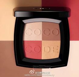 Paleta de maquiagem de bronze on-line-1 Pcs Marca Maquiagem Blush código do coco harmonie Bronze Blush Em Pó Paleta 6 Cor Diferente