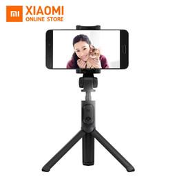palos de plástico para selfie Rebajas Original Xiaomi Trípode de mano plegable Selfie Stick Monopod Selfiestick Bluetooth con obturador inalámbrico para iPhone Android