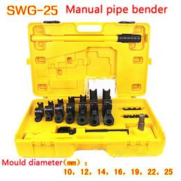 Dobrador de tubos manual SWG-25, Tubo de mão