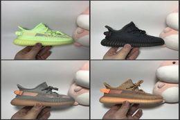 Zapatos de bebé para niños pequeños online-Niños Niños Crema Juvenil Todo Blanco Estático 2.0 Infantil Criado Beluga Negro Rojo niños pequeños Zapatillas Kany West Zapatillas deportivas