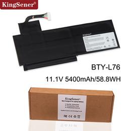 China laptops msi online-KingSener Neue BTY-L76 Laptop Batterie Für MSI GS70 MS-1771 1772 1774 GS72 WS72 XMG C703 S4217T MD98543 BTY-L76 11.1V 5400mAh