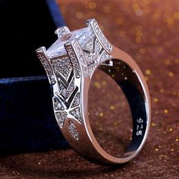 jahr hochzeitsgeschenk geschenke Rabatt Huitan Square Stone Solitaire Trauringe für Frauen New-Gothic Jubiläumsgeschenk Ringe Neujahr Überraschungsgeschenk für Mädchen